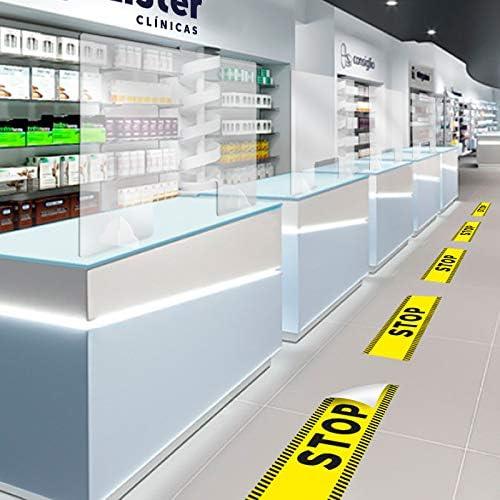KMINA - Mampara Metacrilato Mostrador, Mamparas Proteccion Mostrador, Separador Mostrador para Negocio, Tienda, Farmacia o cualquier Recepción (65cm x 65cm): Amazon.es: Salud y cuidado personal