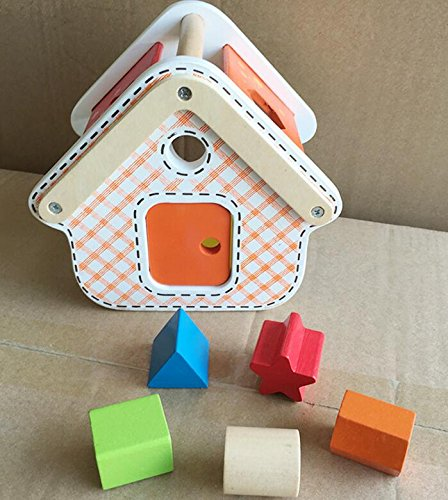 Baby Toddler Kids Gifts Brand New Wooden Shape Sorter Geometric Sorting House Educational Shape Color Recognition Toy for Kids