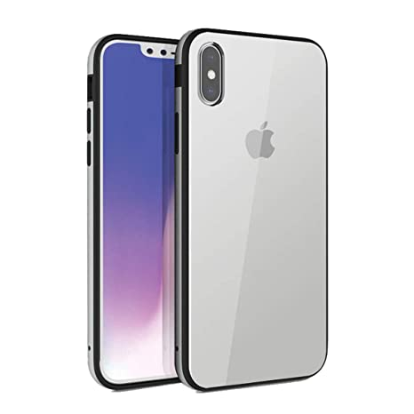 check out 5c416 ed3c7 Uniq Valencia Clear Case for Apple iPhone X/iPhone Xs 5.8 Inch with Slim  Aluminium Bumper 3H Scratch-Resistance Ultra-Clear PC Back Cover (Clear  Grey)