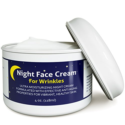 512wi7iCUxL - Anti Aging Night Cream Moisturizer for Dry Skin - Firming Cream For Women & Men - Best Anti Wrinkle Cream for Sensitive Skin - Collagen Booster - All Natural Skin Care with Antioxidants & Shea Butter