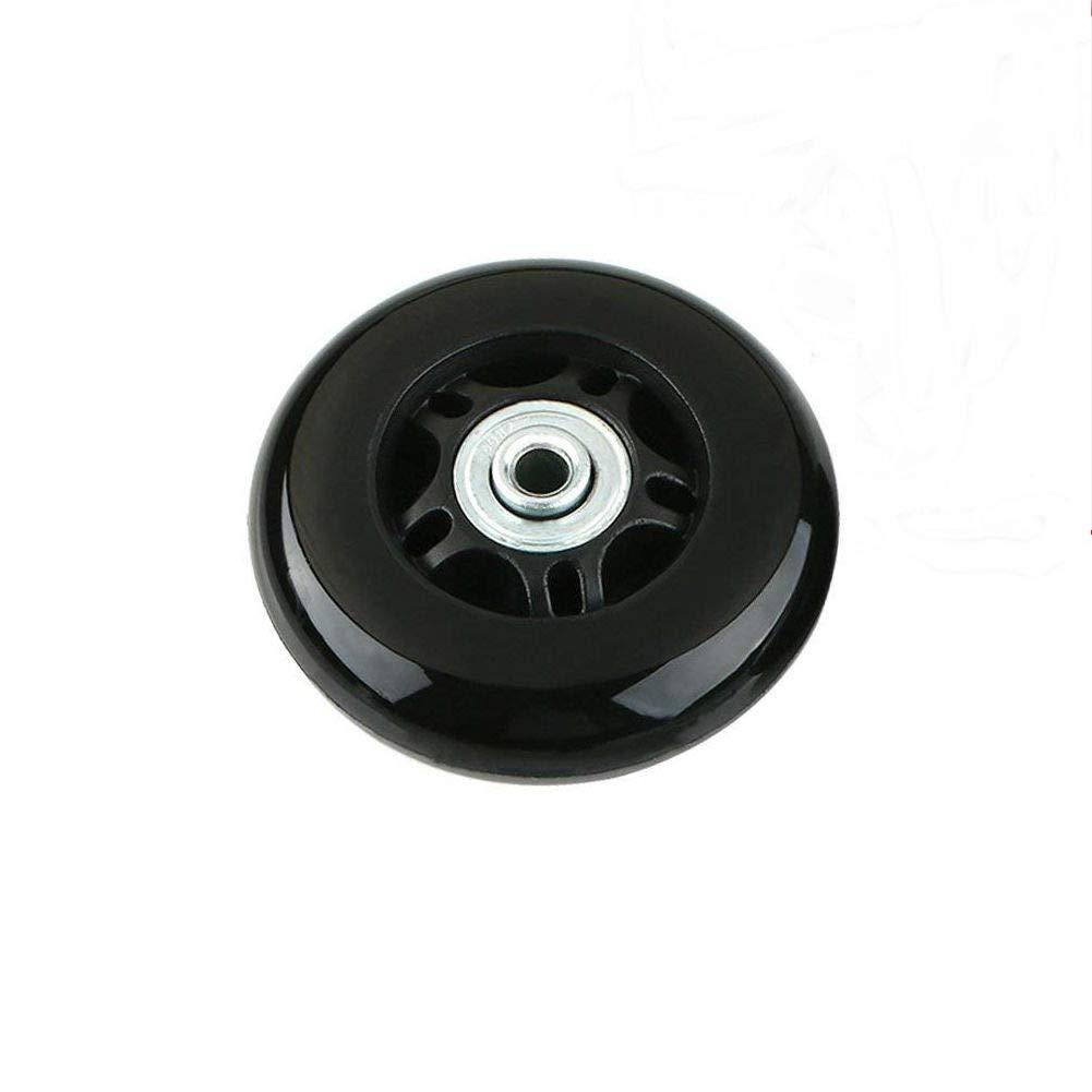 50x18mm Clear ORO 1 Paio Ruote di Ricambio per Valigia Bagagli 50X18mm 45X18mm 80 24mm Rutoe Sostitutive con Cuscinetti 6mm 36mm Assali Chiave Ingless Set di Riparazione