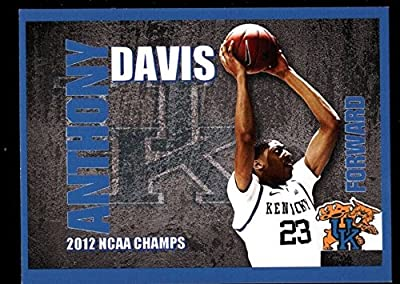 Anthony Davis Kentucky Blue Rookie Rc Sp 2012 Ncaa Champs Uk Wildcats B8