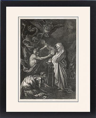 Framed Print Of Witch Of Endor (Rosa) by Prints Prints Prints