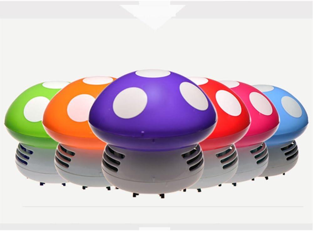 BINGFENG Mini aspiradora batería Seca Limpiador de Escritorio Aspirador Fuerte Limpieza rápida escobilla Polvo Estudio Mesa Vida pequeño ayudante Seta: Amazon.es: Hogar