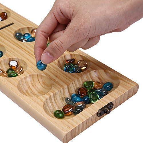 PlayMaty Madera Plegable Mancala Juego de Mesa Juego de Estrategia: Amazon.es: Juguetes y juegos