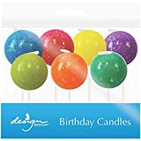 "JAM Paper® Specialty Birthday Candles - 2 3/4"" x 7/8"" - Glitter Bombs - 7 /pack"
