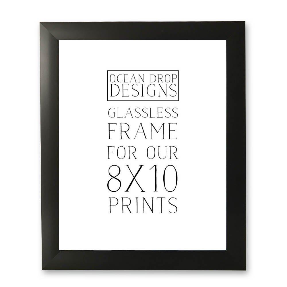 Ocean Drop Designs Contemporary Picture Frame to Fit Ocean Drop Designs Art Prints (Black)