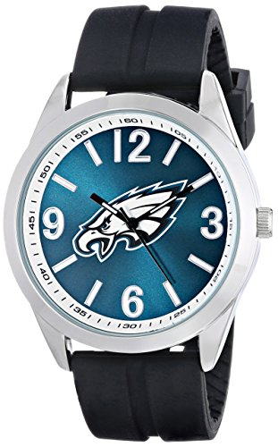 (Game Time Men's NFL-VAR-PHI Varsity Analog Display Japanese Quartz Black Watch)