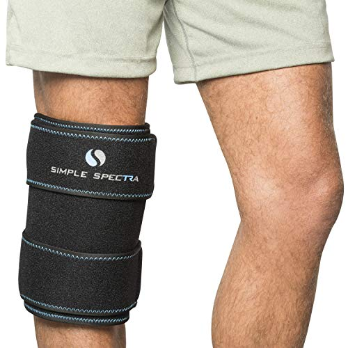 Ice Pack Wrap - Reusable Flexible Gel Clay with Adjustable Strap | Hot & Cold Compress Therapy Pain Relief and First Aid Injuries - Best for all Joints & Muscles, Knee, Back, Shoulder - Large 14