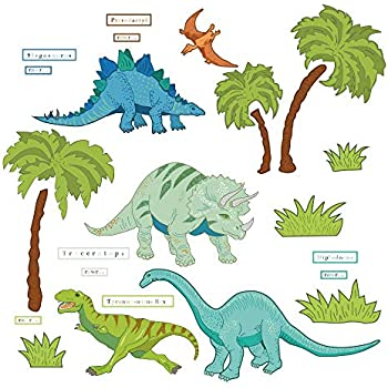 1bc298fe0225cc DecalMile Dinosaur Wall Decals Kids Room Wall Decor Peel and Stick Wall Art  Sticker for Nursery Baby Room Kids Bedroom Playroom