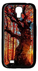 Brian114 Samsung Galaxy S4 Case, S4 Case - Cool Black Back Hard Case for Samsung Galaxy S4 I9500 Forest View Design Hard Snap-On Cover for Samsung Galaxy S4 I9500