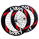 LVWA Full Carbon Fiber Road Bike 700C Wheelset 88mm Clincher & Tubular ( Clincher1 )