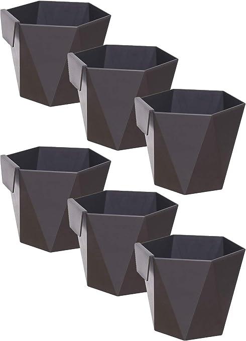 Fioriere Per Esterno Plastica.Idea Station Fioriera Plastica 6 Pezzi 11 Cm Antracite Piazza