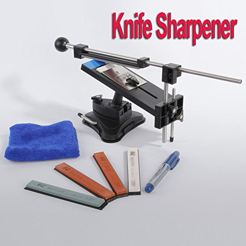 Upgraded Version Fixed-angle Knife Sharpener Professional Kitchen Knife Sharpener Kits System 4 Sharpening Stones - 5