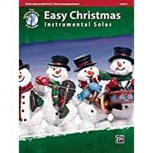 Easy Christmas Instrumental Solos for Strings, Level 1: Violin, Book and CD