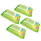 Best Pet Supplies WW-GT-400 Green Tea Scented Deodorizing Pet Grooming Wipes