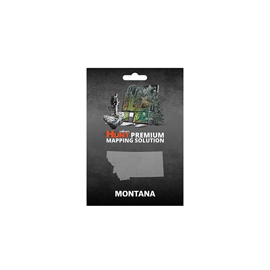 Montana Hunting Maps: onX Hunt Chip for Garmin GPS Public & Private Land Ownership Hunting Districts Includes Premium Membership for onX Hunting App for iPhone, Android & Web