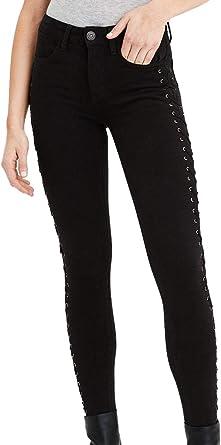 Amazon Com American Eagle 03273398 360 Pantalones Vaqueros Para Mujer Elasticos Con Cordones Color Negro Clothing