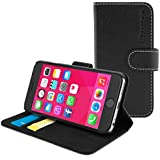 iPhone 6 / 6s Case, Snugg™ - Premium Stylish Leather Wallet Cover Case (Black) with Lifetime Guarantee, NuBuck Fiber Interior, Credit Card Holder & Flip Stand for the New Apple iPhone 6s