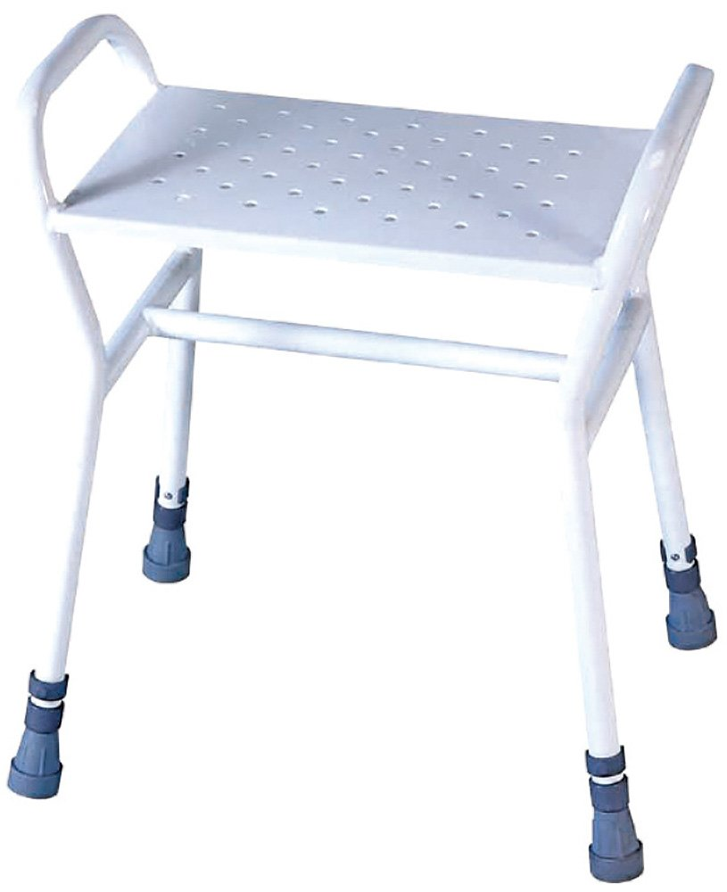 shower waterproof round rebotec white adjustable product stool verona lightweight