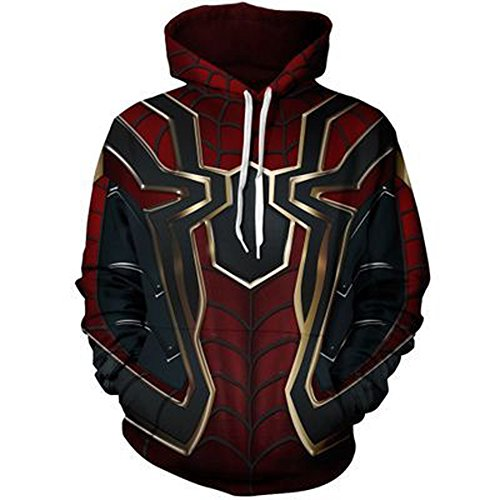 KILLYCOS Unisex Superhero 3D Printed Hoodie Cosplay Costume