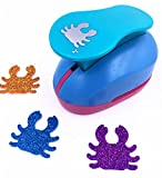 TECH-P Creative Life 2-Inch(48mm) Paper Craft Punch,card Scrapbooking Engraving Kids Handmade Arts Crafts Hole Puncher-Crab
