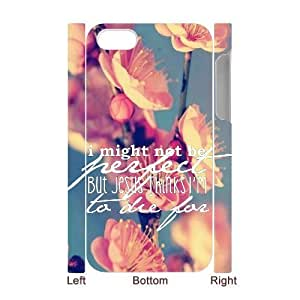 Bible Verse Custom 3D Cover Case for Iphone 4,4S,diy phone case ygtg621219