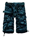 Unisex Teen Boys Hip-hop Stylish Summer Beach Jogger Trouser Casual Camouflage Shorts Military Wild Cargo Pants Cropped Trousers