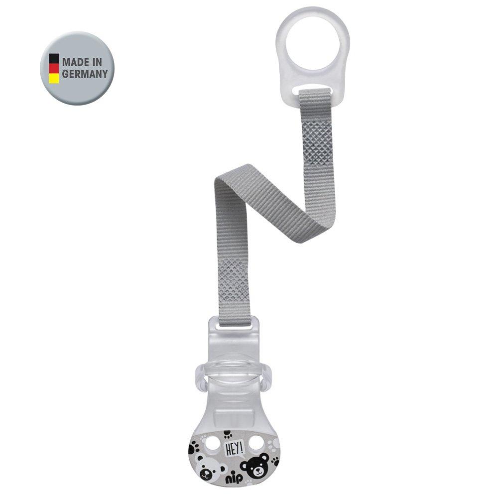 nip Schnullerband mit Ring //// 2-er Set Girl //// Komfort-Verschluss f/ür alle Schnuller ohne Ring //// NEU Befestigungsring aus flexiblem Silikon //// made in Germany