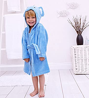 83abb687e6861 Bain Lapins éléphant Peignoir de bain à capuche Coton pour 1-3 ans ...
