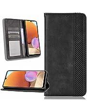ESONG Telefoonhoes voor Xiaomi 11T Hoesje,Retro Style PU/TPU Wallet Folio Case,Magnetische Sluitingen Flip Folio Book Style Case Cover-zwart