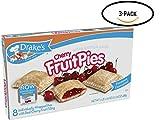Drake's Cherry Fruit Pies, 8 Apple Pies Per Box, 17.16 Ounces (3-Boxes)