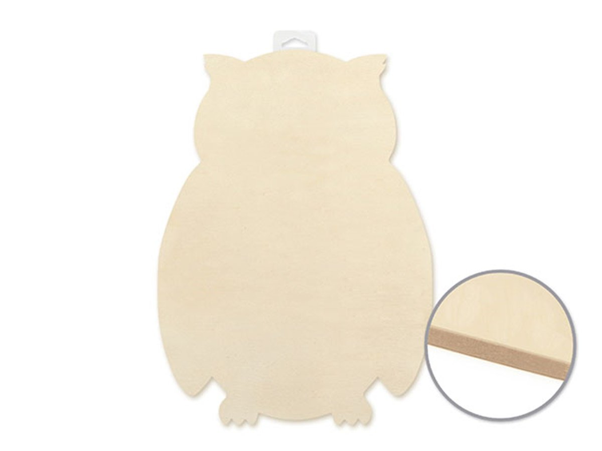 Arts and Crafts Wood Decor Wood Decor Paintable Wooden Wall Plaque (Owl)