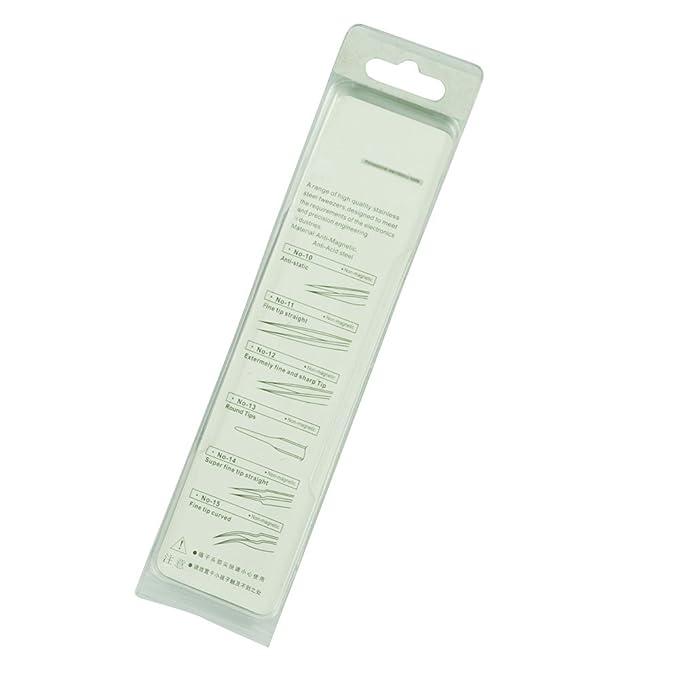 R 5.1 tono de la plata largos de acero inoxidable extra fino pinzas puntiagudas SODIAL