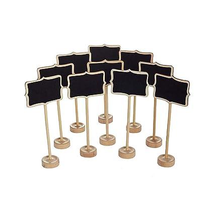 Kanggest.15 piezas Rectangular Pizarra de madera Roble Oscuro ...