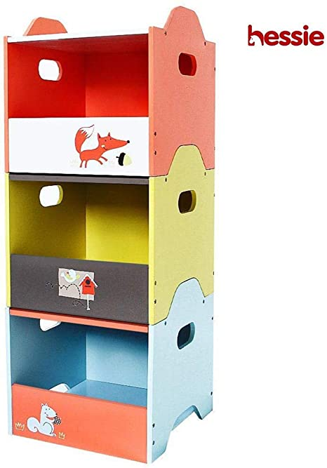 Hessie Caja de madera empilable de 3 capas/almacenaje/organizador ...