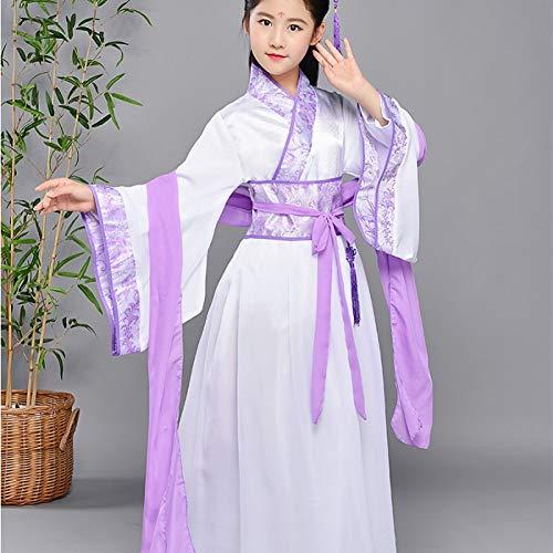 WHFDHF Dress Meisjes Hanfu Jurk Traditionele Jurken Voor Kids Stage Kostuums Kinderen Oude Prinses Kostuum Dl2866 -