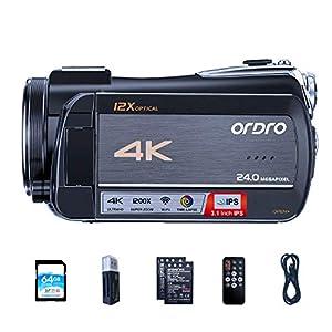 Flashandfocus.com 512wmVORWvL._SS300_ Video Camera 4K Livestream Camcorder ORDRO HDR-AC5 12X Optical Zoom Video Recorder 3.1'' IPS Touchscreen Live Broadcast…