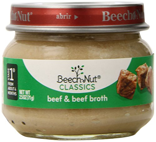 Beech-Nut Stage 1 Beef and Broth, 2.5 Ounce (Pack of 10)