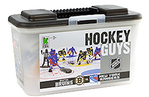 Kaskey Kids NHL Hockey Guys: Rangers vs. Bruins - Inspires Imagination with Endless Hours of Creative, Open-Ended Play - Includes 2 Full Teams and Accessories. 25 Pieces. 3