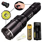 Bundle: Nitecore TM03 CREE XHP70 LED 2800 Lumens Tactical Flashlight With 18650 Battery and UM10 Battery Charger+Car Charger and Skyben USB Light