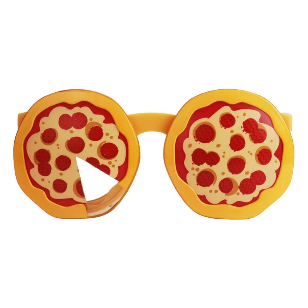a2166f99a4e Amazon.com: Pizza Shape Eyeglasses Novelty Sunglasses Funny Glasses for  Festival Party Cosplay Eyewear: Toys & Games