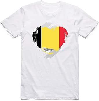 White Belgium Flag T-Shirt For Men