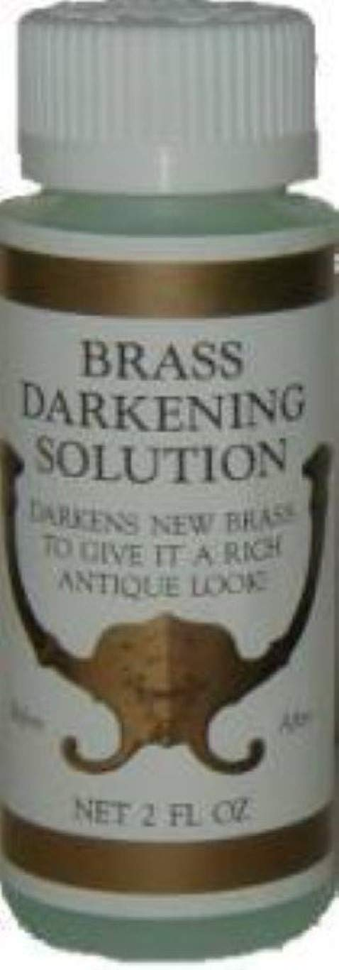 2oz (Ounce) - Brass Darkening Solution antique vintage old dull ager patina copper tin bronze