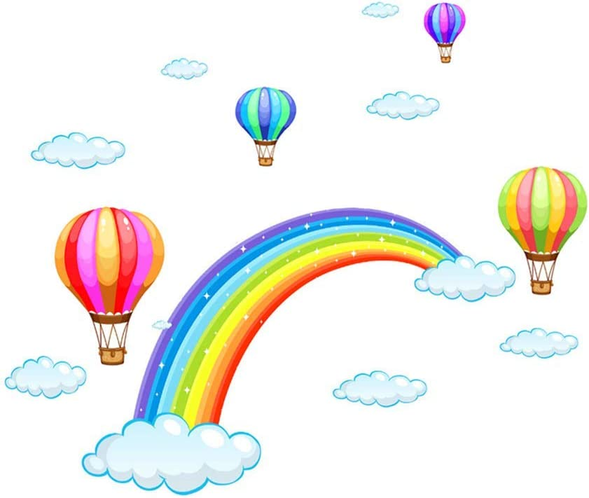 Wall Decals Wall Stickers Rainbow Balloon for Decoration Room Child Wall Sticker Room Children Baby Nursery Living Room