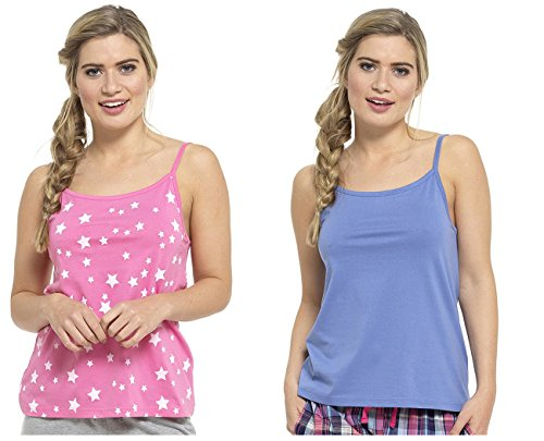Hari Deals - Camiseta sin mangas - para mujer Rosa
