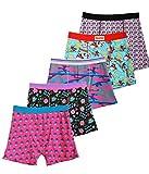 Godsen Men's Classic 5 Pack Boxer Briefs Cartoon Underwear (L, Assorted Colors)