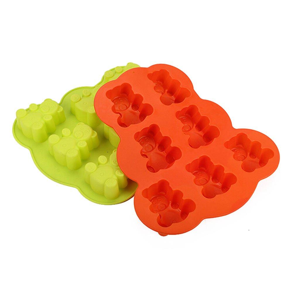 Zuf/älliger Farbe JUNGEN 2 St/ück Silikon Kuchen Schokoladen Formen Cupcake Muffinformen B/ären Form f/ür Kinder