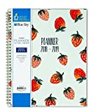 Blue Sky 2018-2019 Academic Year Weekly & Monthly Planner, Flexible Cover, Twin-Wire Binding, 8.5'' x 11'', Strawberries