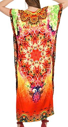 Liscia Coprire Cachemire Veste Kimono Vestito Maxi Di Caftano r636 Donne Likre Multicolore Il LEELA Più LA wnOxvEgw
